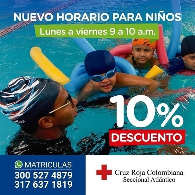 Take advantage of the 10% discount on swimming cou
