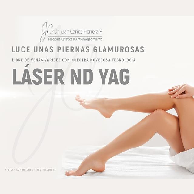 Use of the laser to treat varicose veins.
