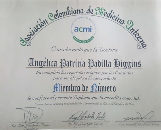 Angelica Padilla Higgins  Internista