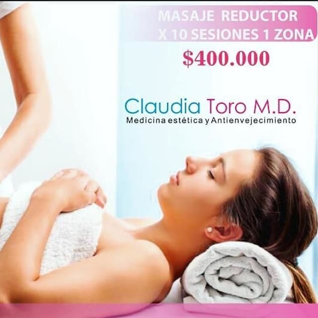 Reducing massage 10 sessions 1 zone $ 400000
