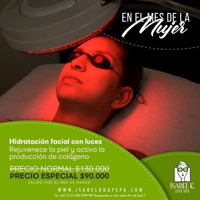 Facial hydration with lights $90.000