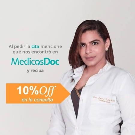 10% in the consultation when mentioning MedicosDoc